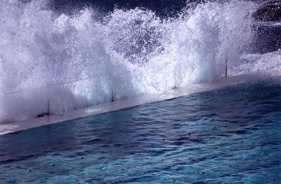 surf club swimming pool at bondi, sydney, australia Australia Bondi Lanes Manmade Motion Pool Poolside Power In Nature Sea Splash Splashing Surf Surf Club Swim Swimming Pool Sydney Tidal Water Wave Waves