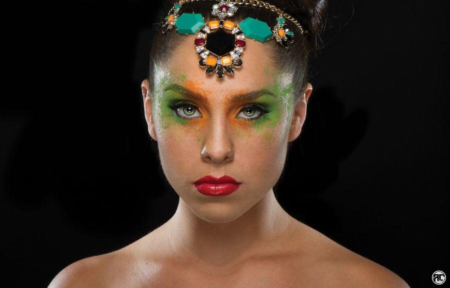 Portrait headshot Nikon Macro Makeup