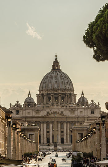 St Peters Basilica Against Sky In City