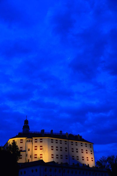 Schloss Ambras Innsbruck Abend Austria Himmel Innsbruck Lichter Light Nacht Schloss Ambras Tirol  Architecture Blue Building Exterior Castle Cloud - Sky History Illuminated Night No People Sky Tyrol