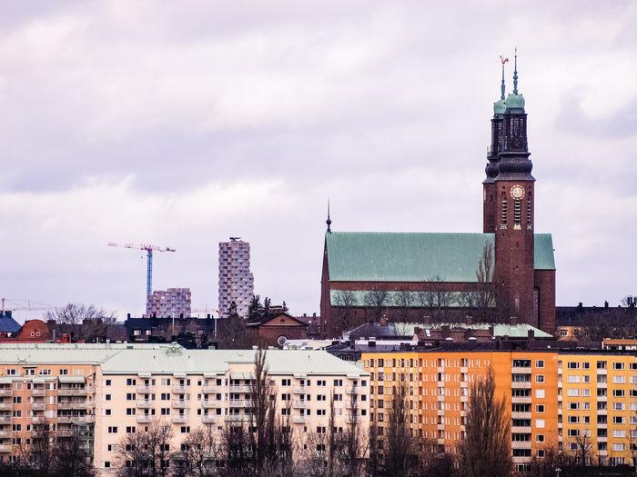Stockholm, sweden - march 1 2020, högalidskyrkan on södermalm