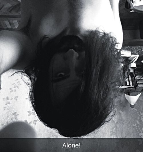 Azerbaijan Alone Long Hair Real People Self Timer Mirror Blackandwhite Photography Psychology Student Baku Mardin Reverse Selfie