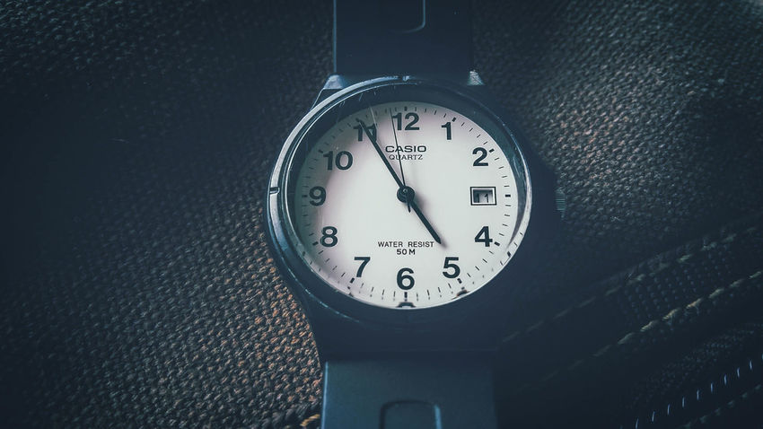 Bag Casiowatch Clock Clock Face Close-up Day Indoors  Minute Hand No People Number Time