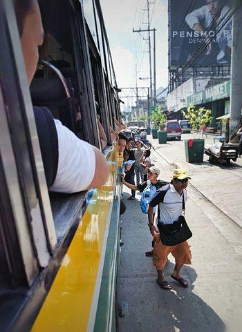 Balintawak Market bus stop Bus Stop Commuter Rush Hour People Edsa Edsa Traffic. Commuters Dilemma Bus