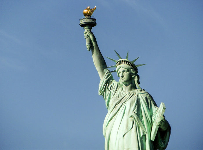 Blue Sky Clear Sky Close-up Lady Liberty New York City Statue Statue Of Liberty Torch Travel Travel Destinations