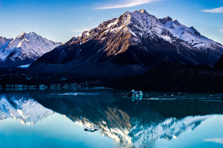 Beauty In Nature Blue Cold Temperature Covering Frozen Idyllic Lake Landscape Majestic Mountain Mountain Range Nature Non-urban Scene Reflection Scenics Season  Sky Snow Snowcapped Snowcapped Mountain Tranquil Scene Tranquility Water Weather Winter