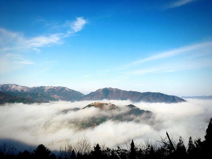 天空の城 Castle Machu Picchu Of Asia Mountain Cloud Sky Nature Silence Winter Early Morning Feeling Good Japan Takeda Castle 竹田城