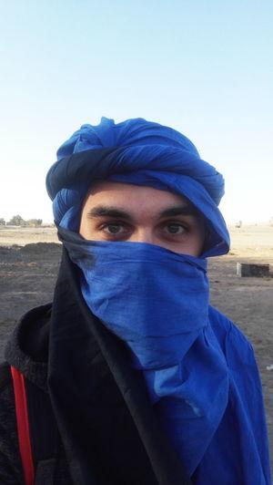 Blue Hijab Eyes Merzouga Marrocco Desert Desertlife Protection
