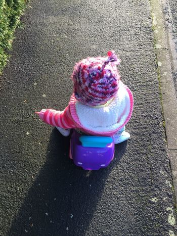 on her travels Baby Babygirl ♥ Travelling Childhood Close-up Day High Angle View Knit Hat Outdoors Outside Ramona Ramona Drew Rideon Warm Clothing