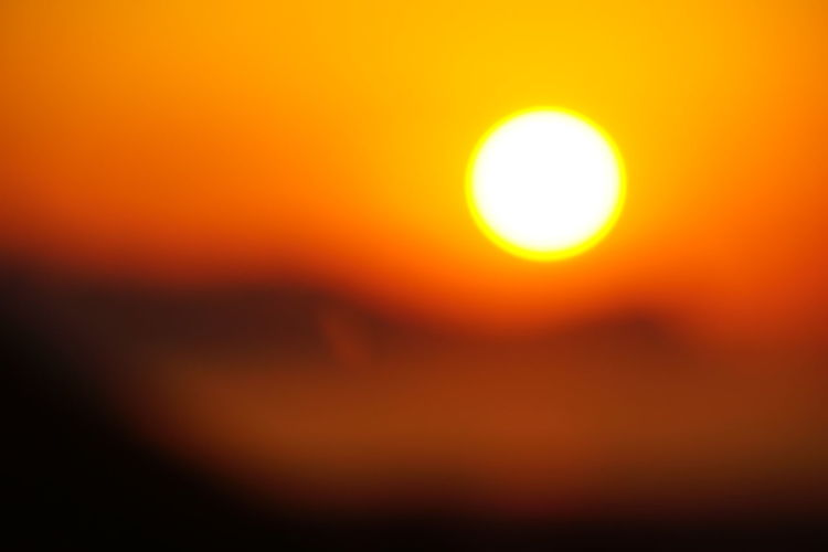 Blurred Picture No People No Photoshop Orange Red Yellow Outdoors Scenics Sicilyphotography Sony A6000 Sun, Mountain And Sea Sunset Colours