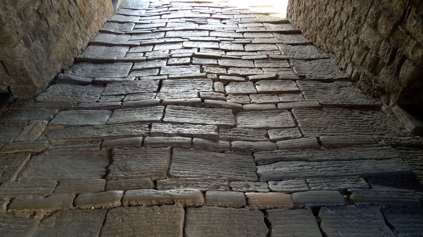 Cobblestone Textured  The Way Forward Architecture No People Stones Evning Light