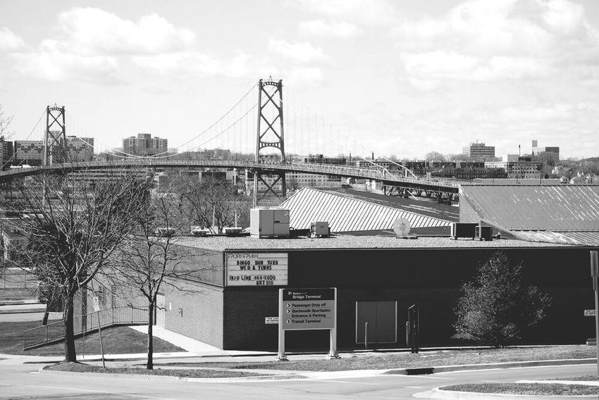 Halifax Bridge overlooking the city Landscape