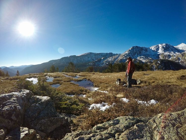 Adventure Beauty In Nature Colorado Colorado Photography High Altitude King Charles Cavalier Landscape Leisure Activity Lifestyles Mountain Mountain Range Nature Outdoors Rocky Mountains Scenics Spaniel Tranquil Scene Tranquility Two People And A Dog Winter Winter Hike