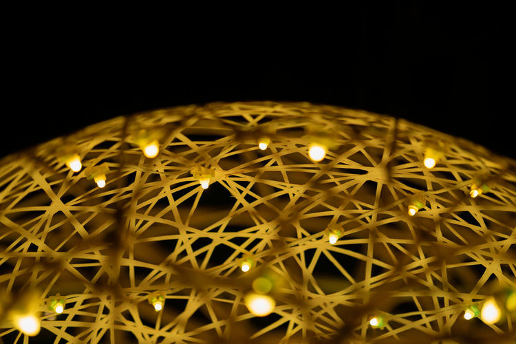 Beautfiul lights at night Illuminated Night Glowing Lighting Equipment Low Angle View No People Indoors  Black Background Light Electricity  Decoration Studio Shot Pattern Light - Natural Phenomenon Close-up Shape Copy Space Sphere Ceiling Technology Dark