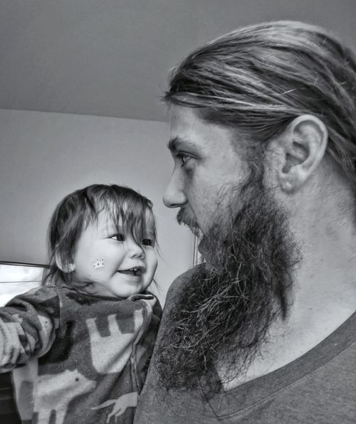 Two People Childhood Indoors  Child Males  Adult Togetherness People Family Bonding Boys Headshot Son Domestic Life Portrait Happiness Men Smiling Real People EyeEmNewHere Team Pixel Seattle, Washington Daddy And Son Father & Son Fatherhood Moments Black And White Friday