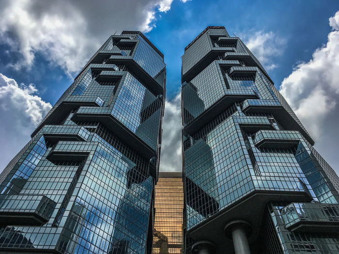 Architecture Building Exterior Built Structure City Cloud - Sky Corporate Business Day EyeEmNewHere Low Angle View Modern No People Outdoors Reflection Sky Skyscraper The Architect - 2017 EyeEm Awards The Graphic City