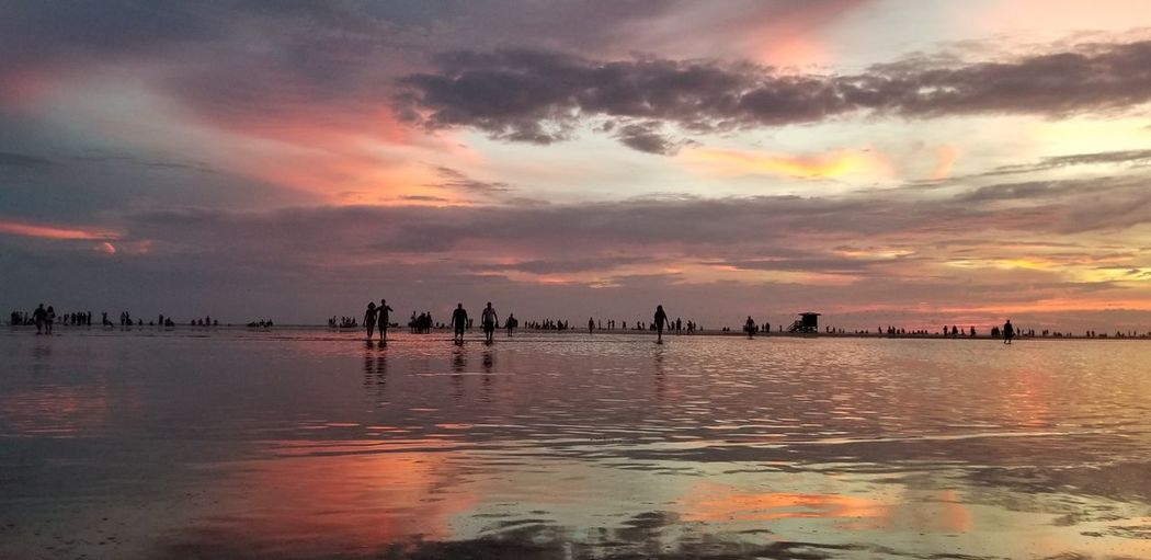 Siesta Key Fl Sunset Cloud - Sky Sea Reflection Dramatic Sky Beauty Landscape Water Outdoors Sky Multi Colored Vacations Travel Beach Nature Scenics Colorful Sky Sunset_collection Sunset Lovers Sunset Photography Horizon Over Water Beach Photography Gulf Of Mexico Illuminated