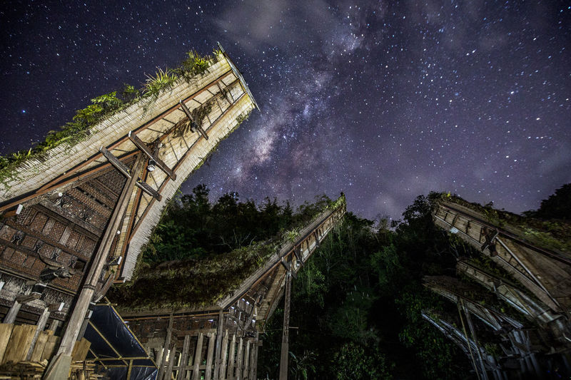 Night At Tongkonan Buntupune, North Toraja, Indonesia Architecture Astronomy Beauty In Nature Building Exterior Built Structure Constellation Galaxy Low Angle View Milky Way Nature Night No People Outdoors Sky Space Star - Space Tongkonan Toraja Tree HUAWEI Photo Award: After Dark