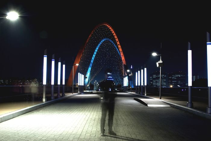 OpenEdit Daejeon, Korea Korea Nikon D80 Long Exposure Nightphotography Bridge Silhouette Its Me
