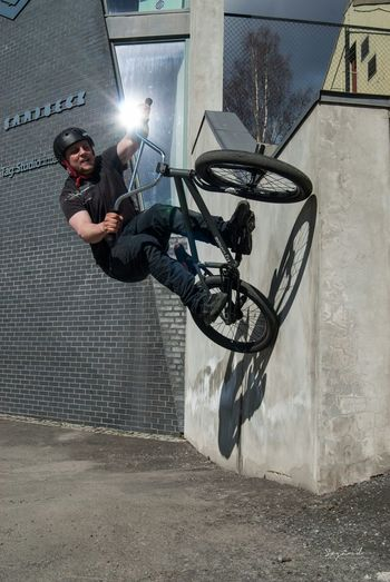 Nikolai Eike goes for the wallride! Image taken in Hamar, Norway, this summer. Bmx  Bmx Is My Life Norway Hamar