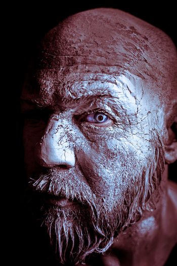 Halloween Old Man Adult Beard Black Background Close-up Headshot One Man Only One Person Only Men Portrait