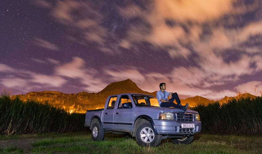 Astro with the Ford Ranger Night Dramatic Sky Star - Space Astronomy Milky Way Sky Galaxy Mode Of Transport Landscape Outdoors Rural Scene No People Constellation Nature