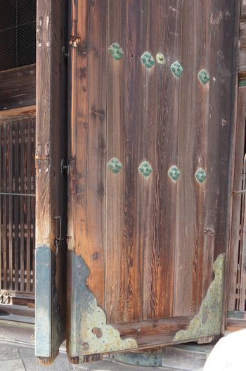 EyeEm Selects Door Wood - Material Safety Protection Metal Day Outdoors No People Lock Architecture Built Structure Close-up Building Exterior Temple Architecture Japan Photography Detail Low Angle View Wooden Door Nara,Japan