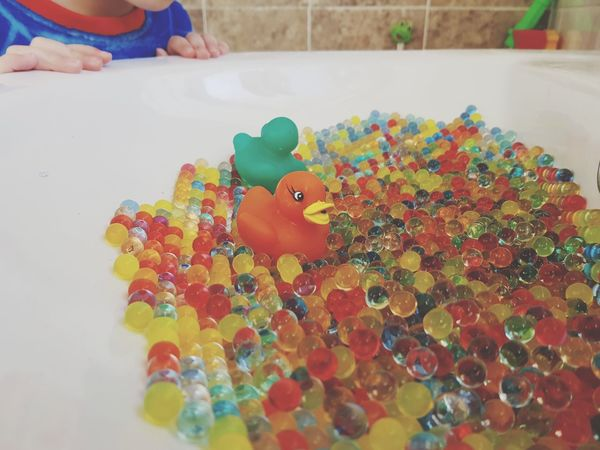 duck race Rubber Duck Rubber Duck Orbeez Kids Child Toy Water Beads Colourful Childhood Sink Water Hands