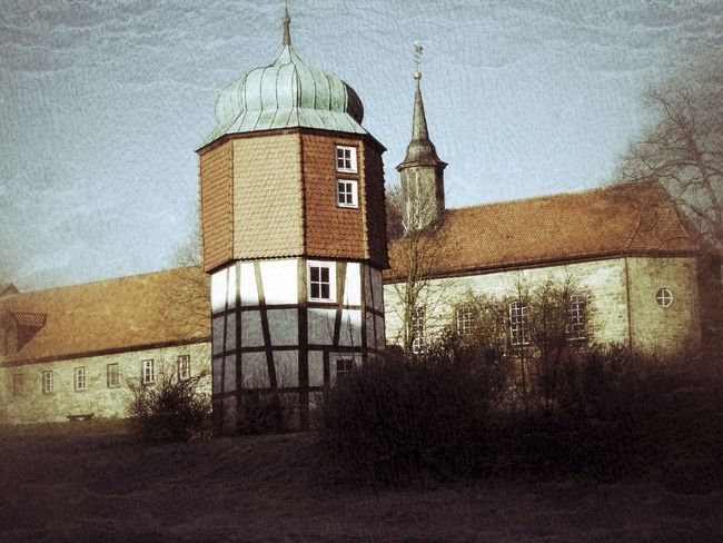 Kloster Fachwerk Hildesheim Old Germany