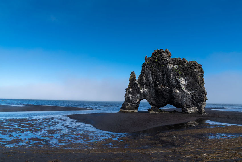 Hvitserkur Perfect Day Backgrounds Beach Beautifuliceland Beauty In Nature Blue Horizon Horizon Over Water Idyllic Land Nature No People Outdoors Rock Rock - Object Rock Formation Scenics - Nature Sea Sky Solid Stack Rock Tranquil Scene Tranquility Water My Best Travel Photo