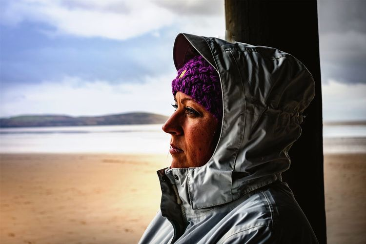 My woman on the beach Cold Days Cold Temperature Single Woman Coat Wooly Hat Landscape Blue Sky And Clouds Woman Portrait Woman Bokeh Isolated Keeping Warm Cold Sand Sea One Person Sky Day Beach Real People Headshot Outdoors Jacket Water Cloud - Sky Horizon Over Water Lifestyles Warm Clothing Adult Nature