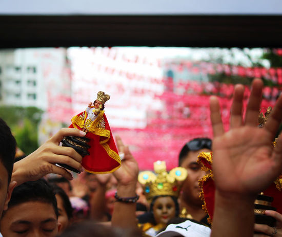 The undying faith of the Cebuanos to Sto. Niño. Sinulog Festival Sinulog Traditional Culture Traditional Festival Philippines People Human Hand Adult Celebration Adults Only Performance Crowd Human Body Part Indoors  Day Close-up