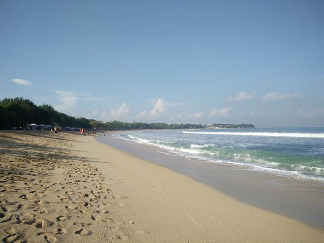 Wide view of Kuta Beach, Bali, Indonesia Beach Beauty In Nature Blue Cloud Cloud - Sky Coastline Day Horizon Over Water Idyllic Nature Non-urban Scene Outdoors Remote Sand Scenics Sea Shore Sky Tourism Tranquil Scene Tranquility Travel Destinations Vacations Water Wave