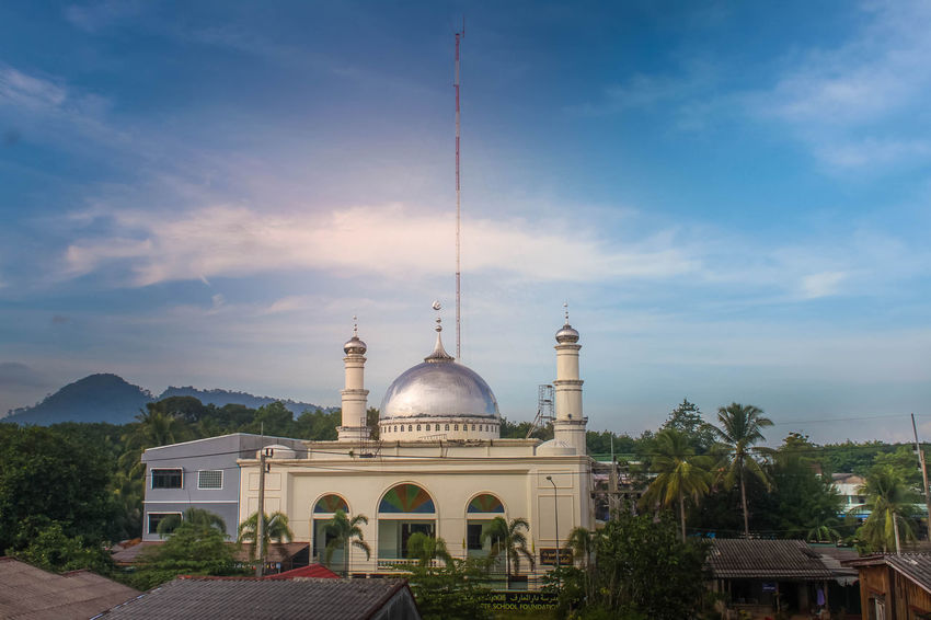 Green Architecture Building Exterior Built Structure Day Dome Masjid Mosque No People Outdoors Sky Travel Destinations