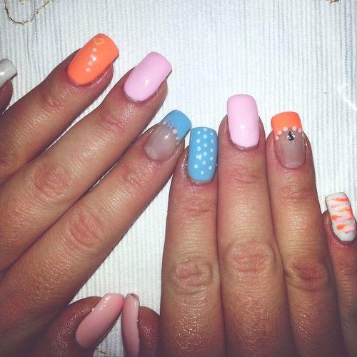 Pastels :-) Nails Naglar Nailart