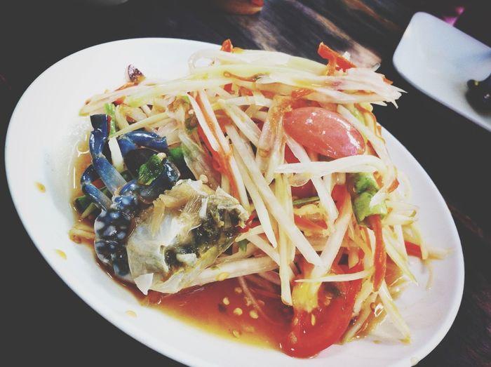 Somtum Salad Papayasalad Thai Food Thai Foods Thailand Food Spicy Food