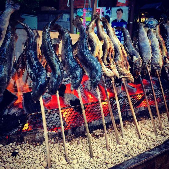 夏の終わり Japanese Culture Japanese Food Summertime 岩魚 夏 炭火 祭り Japan Tokyo Festival