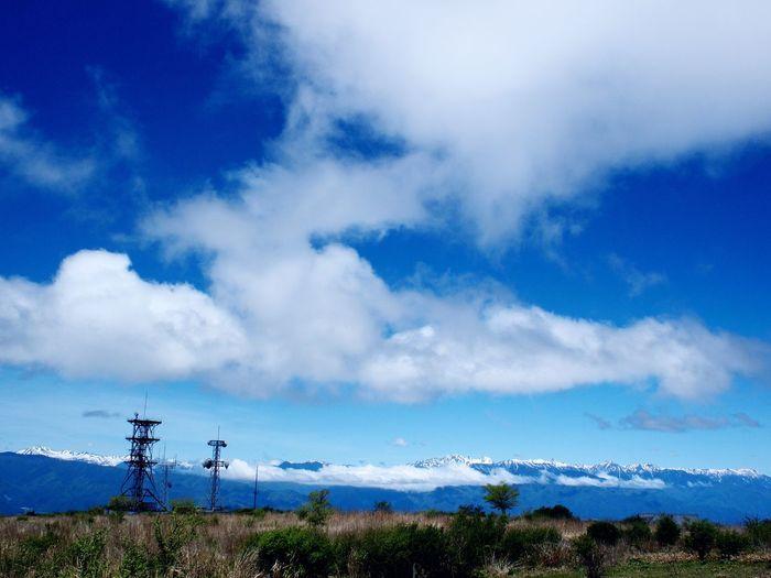 2018.05.20 #高ボッチ山 ・ #高ボッチ高原 より Cloud - Sky Sky Plant Tranquility Nature Beauty In Nature Blue