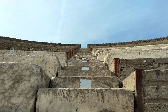 A close-up view of the stairs in a Roman amphitheater in Pompeii, Italy Motivation Romans Ruins Stairs Ancient Ancient Civilization Architecture Building Exterior Built Structure Day Europe History Italy Low Angle View Nevergiveup No People Outdoors Roman Sky Staircase Steps Steps And Staircases Stone Stones Tourism