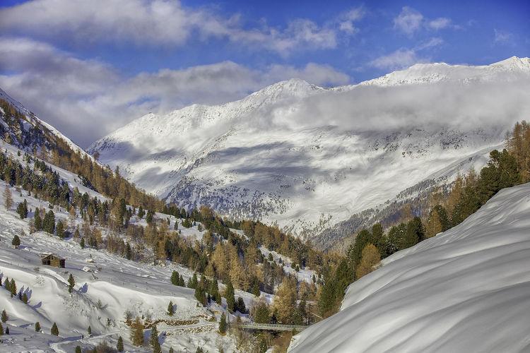 Austria Best EyeEm Shot EyEmNewHere Obergurgl Tirol  WeekOnEyeEm Beauty In Nature Cloud - Sky Cold Temperature Landscape Mountain Nature Oroszphotography Scenics Snow Tranquil Scene Weather Winter
