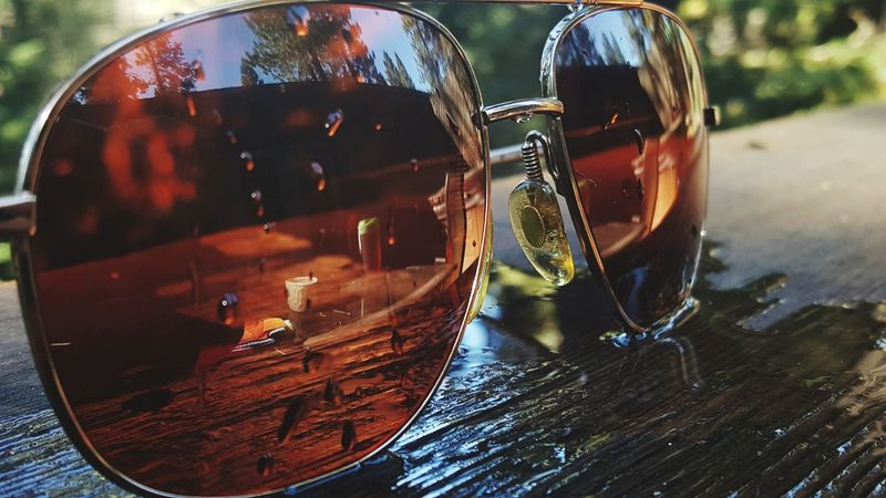 Day Close-up Wet Water Glasses Reflection Clear Outdoors Backporch Truckee