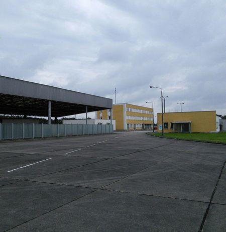 Gedenkstätte Marienborn. Grenzkontrolle DDR Grenze Nein Grenze