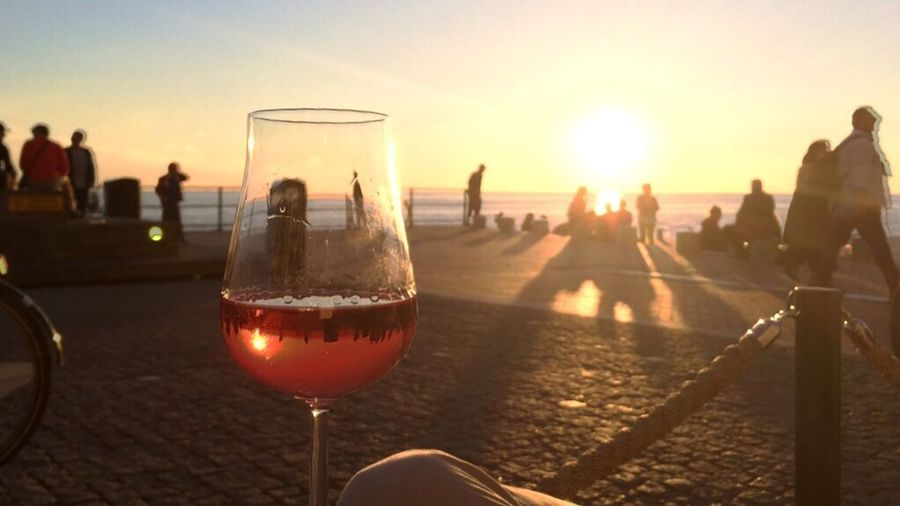 Last night's Sunset enjoyed with a glass of Rosé by the water in Västra Hamnen in Malmö