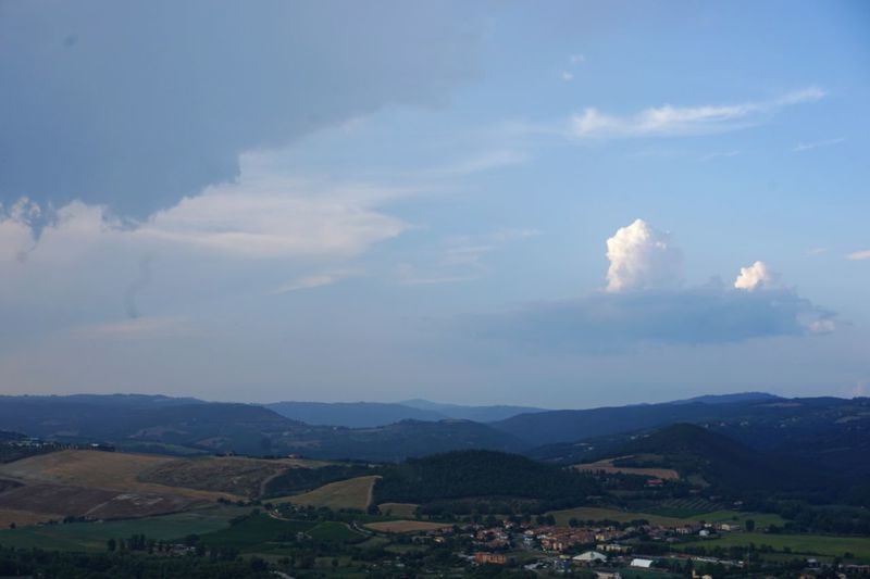 View over the valley from Orvieto, Umbria Storm Clouds Rural Landscape Vacations Travel Destinations Umbria, Italy Cloud - Sky Sky Environment Mountain Scenics - Nature Landscape No People Nature Beauty In Nature Outdoors Day Tranquility Tranquil Scene