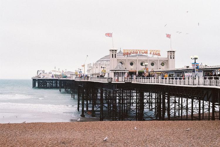 Pier on beach