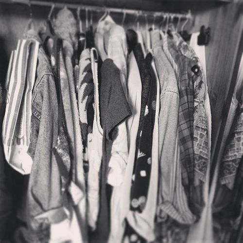 So this one wardrobe out of 2 and 2 Chester-draws. I think I have a clothes problem but yet I never have anything to wear :/ Uoeurope Charityshops Clothes Mess No Fashion Floordrope