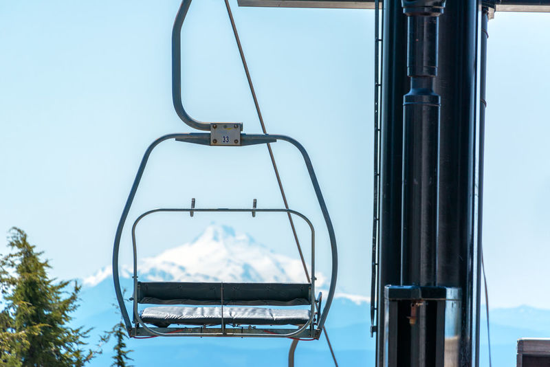 Chairlift on Mount Hood with Mount Jefferson visible in the background Blue Sky Cable Cascade Chairlift Hills Lift Mount Hood Mount Jefferson Mountain Mt Hood Mt Hood Oregon Nature Nature Northwest Oregon Outdoors Range Ski Ski Lift Snow Summer Timberline Trees Volcano Wilderness