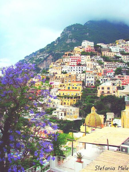 Tradition Travel Architecture Travel Destinations Cityscape Mountain Outdoors Village Building Exterior No People History Pavilion City Scenics Landscape Nature Sky Day Positano