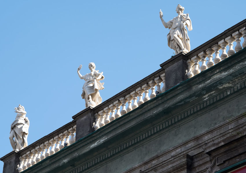 Animal Representation Architecture Art Art And Craft Building Exterior Built Structure Column Creativity History Human Representation Low Angle View Naples Napoli ❤ Ornate Religion Sculpture Statue