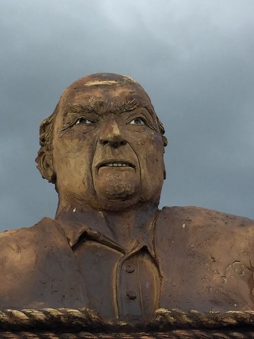 Statue Outdoors North Carolina Angry Man
